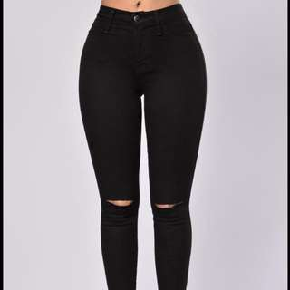 Black Fashion Nova Canopy Jeans