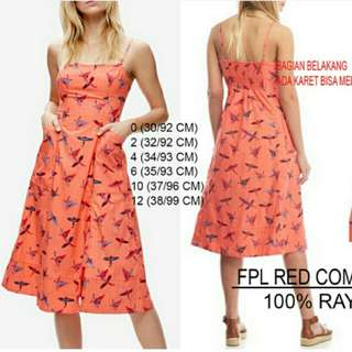 Free People Red Combo Dress