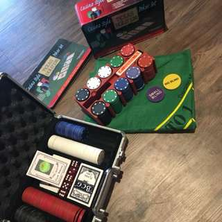 Poker set and chips for sale