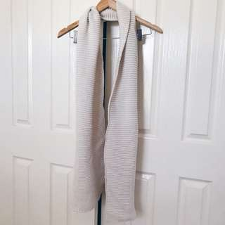 YES STYLE Beige Knitted Scarf