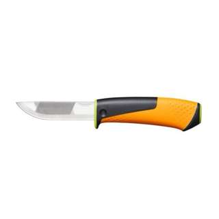 Heavy duty knife with sharpener