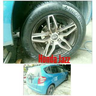 Tyre 175/65 R14 Membat on Honda Jazz 🐓 Super Offer 🙋