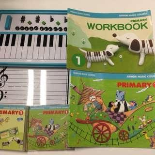 Yamaha Junior Music Course (JMC) Pri 1 magnetic board, CD, DVD & book