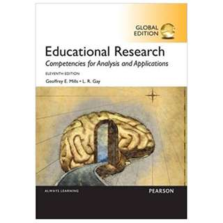 Educational Research Competencies for Analysis and Applications, Global Edition BY Geoffrey E. Mills  (Author),‎ L. R. Gay (Author)