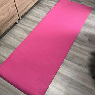 Pink Foam Padded Yoga Mat (used once)