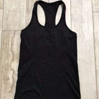 Lululemon swiftly racer back black size 6 (aus 10)