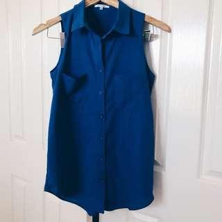 VALLEYGIRL Cobalt Blue Sleeveless Top