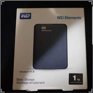 WD element 1 tb storage drive