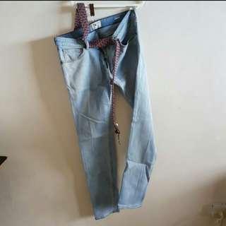 Mango Man Denim Pants (Size 32 Slim fit stretch)