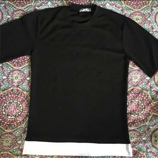 Lynwood Black Top (Oversized Mens Top from Korea)