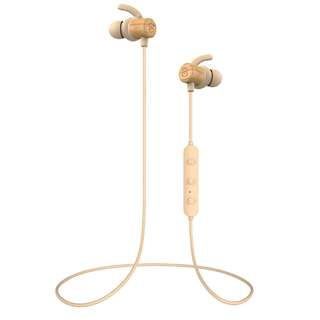 SoundPEATS Beech Wood in-Ear Earbuds, Magnetic Bluetooth Headphones Sports IPX6 Sweatproof Earphones with Mic (Super sound quality Bluetooth 4.1, aptx, 8 Hours Play Time, Secure Fit Design)