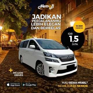 Promo sewa mobil Toyota Vellfire (Wedding / Non-Wedding) di Jakarta, murah dan elegan. Kunjungi Nemob.id