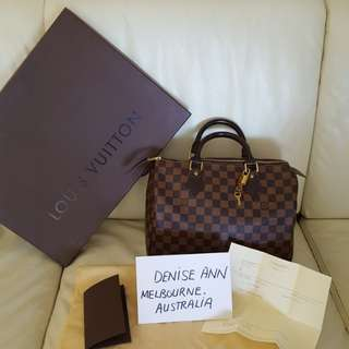 AUTHENTIC LV SPEEDY 30 DE