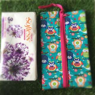 Handmade Travel Pack Size Tissue Pouch Large Size