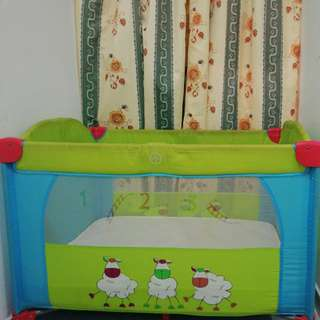 Baby court with mattress