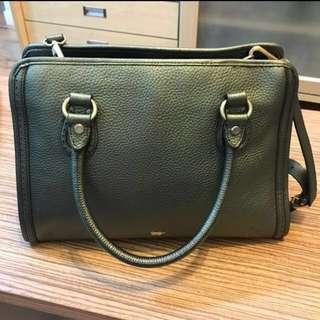 Authentic Braun Buffel leather handbag with sling #midjan55