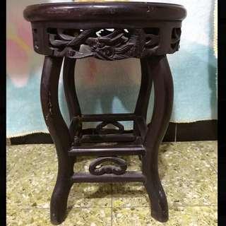 古董百年手雕酸枝凳