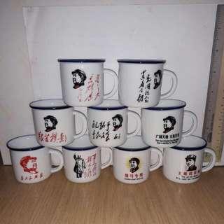 """""""毛泽东"""" Mini Porcelain Cup (Per Set)"""