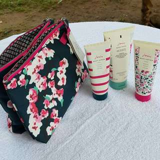 Joules Pouch with body care contents