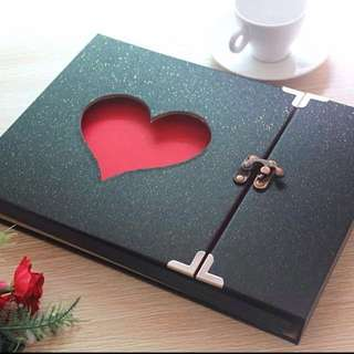 DIY Heart scrapbook