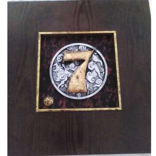 Visiber No 7 with frame in pewter setting. Lucky Number 7