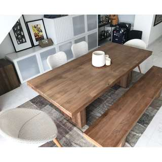 ETHNICRAFT / ORIGINALS - Dining Table, Bench seat and chairs
