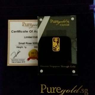 1 Gram Puregold Gold Bar -Arcylic Type