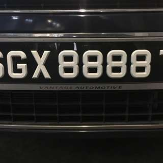 Car plate for sale SGX 8888 T