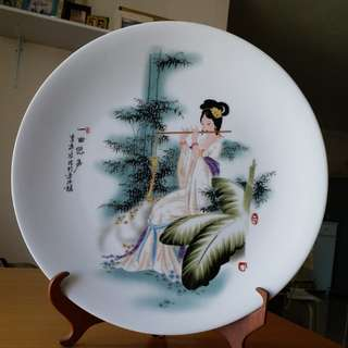 A plate for ornament. Hand painted. Size:40 cm