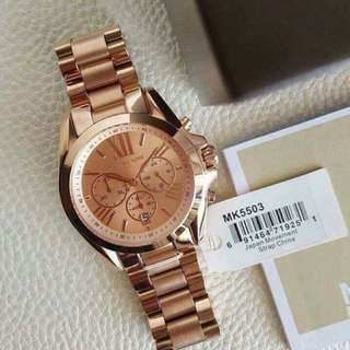 MK Rose Gold-Tone Watch