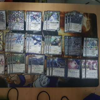 Battle spirits deck with sleeves