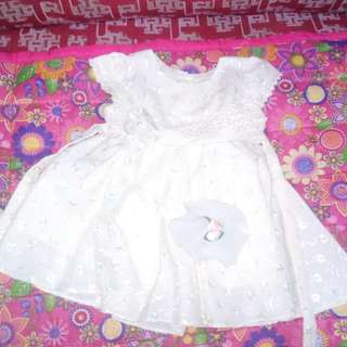 Baby dress off white