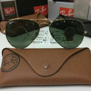 Authentic Rayban Aviator Luxottica (Unpolarized)