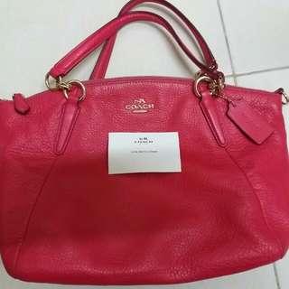 Coach small kelsey pink