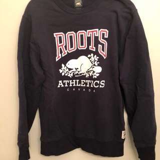 Roots Crew Neck (Navy Blue)
