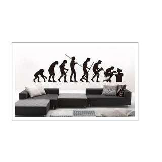 Evolution of Man Wall Decal Sticker