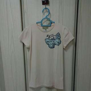 Sacoor Brothers t-shirt blouse with butterfly embroidery