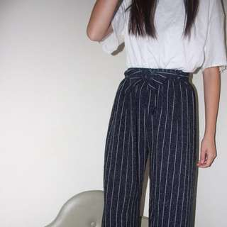 Highwaisted Striped Pant Trousers