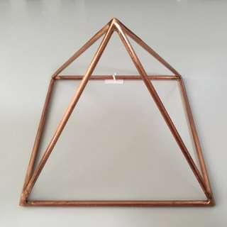 "New Copper Pyramid 7"" length 7"" height"