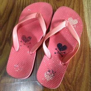 Peach Pink Flipflops Slippers