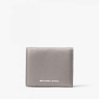 MICHAEL KORS Mercer Leather Card Case (Pearl Grey)