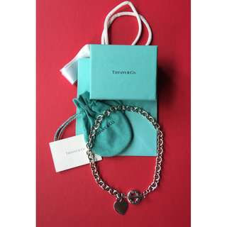 Genuine Tiffany & Co Heart Tag Toggle Necklace