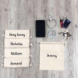 Customized drawstring pouches