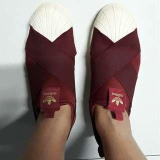 Authentic Adidas Slip On - Maroon