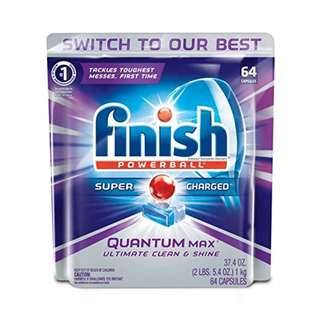 Finish Quantum Max Powerball, 64ct, Dishwasher Detergent