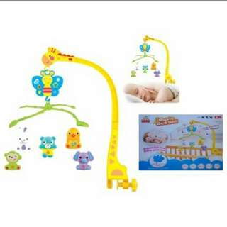READY STOCK Music Bed Bell Baby Toy for Crib and Baby Cot with Wind Up Music Box