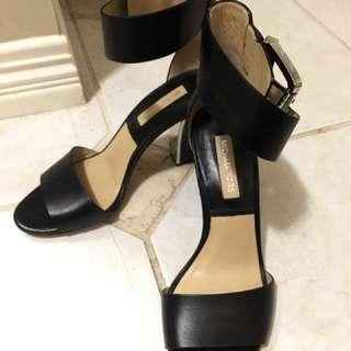 Michael Kors Black Leather Heels sz 6.5