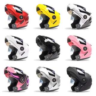 Many Colours/Designs Full Face Flip Up Motorcycle Bike Modular Helmet with Double Inner Lens