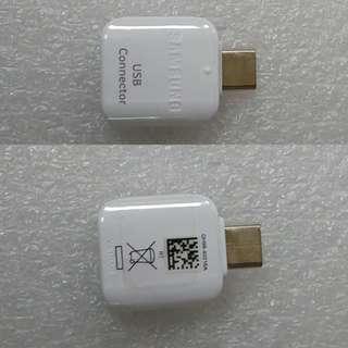 Samsung 原廠 Type-C OTG 轉接頭 USB Connector【GH98-40216A】適合: Galaxy S8, S8+, C9 pro, C7 pro, C5 pro, A7 / A5 ( 2017)
