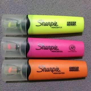 Sharpie Highlighters - WITH WINDOW TIP